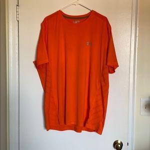 Orange men's Under Armour workout shirt